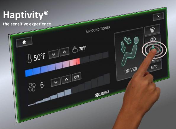 Bosch integrates Kyocera's haptic feedback technology into the car
