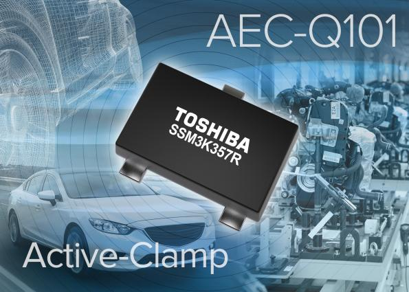Active-clamp MOSFETs feature low on resistance, AEC-Q101
