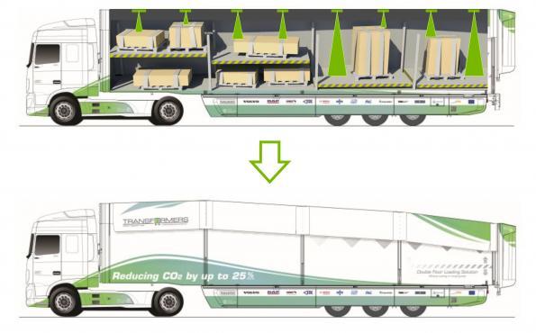 Configurable trucks save up to 25 percent fuel