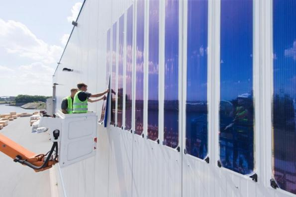 World's largest organic solar cell film installation in Germany