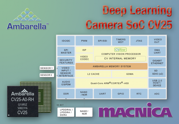Camera chip uses AI for monitoring applications