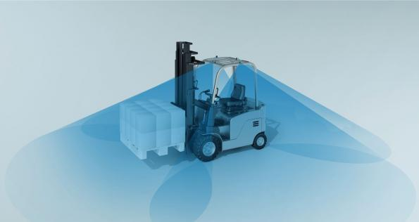 Multi camera system increases safety for forklift trucks