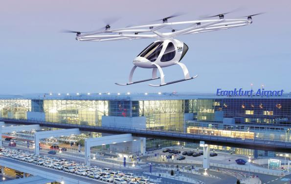 Urban Air Mobility taking shape: Frankfurt airport operator cooperates with Volocopter