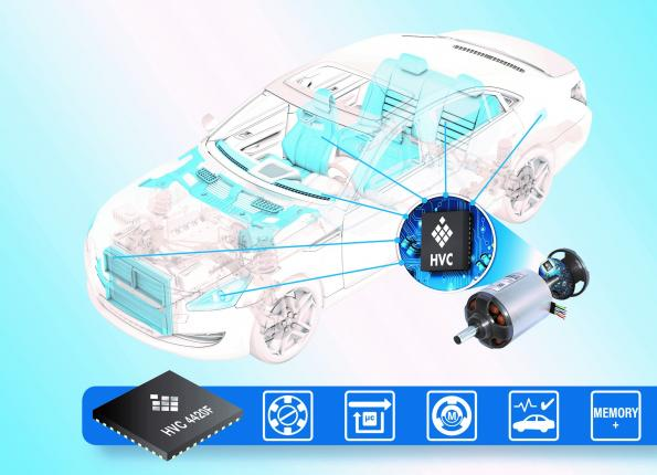 Integrated motor controller has large memory for automotive applications