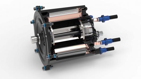 Plastic cooling case for lightweight motor