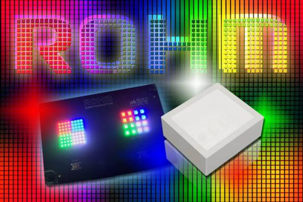 Smallest reflector-type, high brightness 3-colour LED for matrix displays