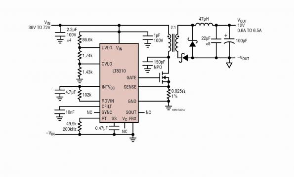 Isolated discrete forward DC/DC design