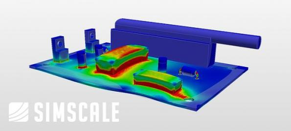 Thermal management and electronics cooling with cloud-based CAE
