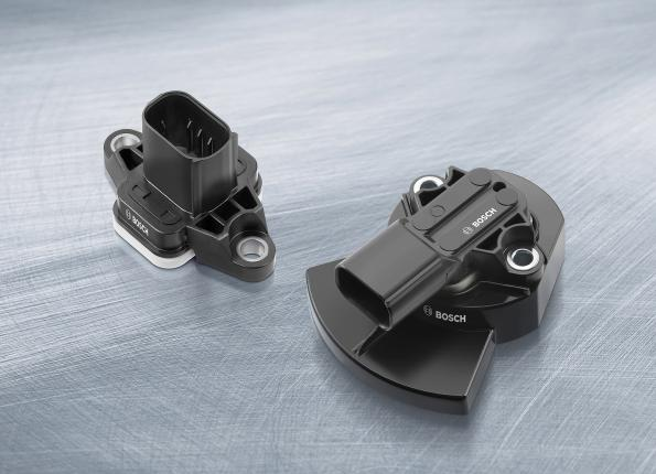 Pedal travel sensor offers wear-free operation, high safety