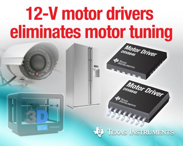 Motor tuning integrated with 12-V motor driver family