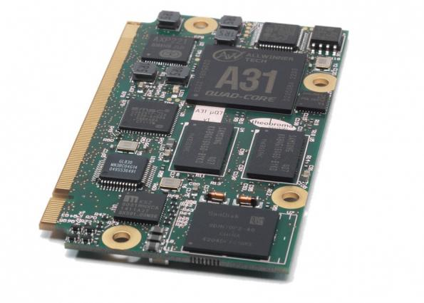 Low-cost, low-power system-on-module uses tablet SoC