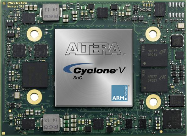 ARM+FPGA: module hosts Altera Cyclone SoC, offers high I/O count