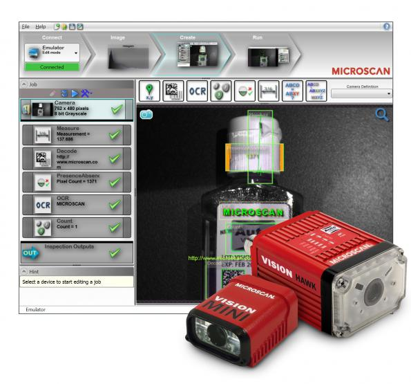 Machine vision hardware/software solutions for industrial
