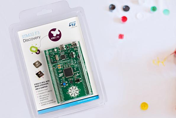 Discovery kit with on-board 9-axis MEMS sensors supports