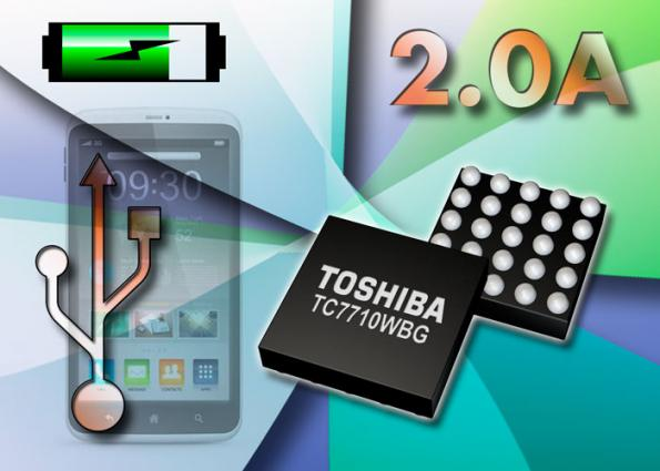 Toshiba unveils first 2 0-A USB-ready Li-ion battery charger IC for