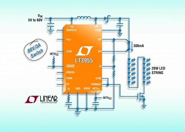 LED driver features internal PWM generator to offer dimmer