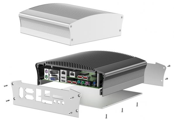 Fischer Elektronik S Latest Housing For Fanless Embedded Pcs Employs A One Sided U Shaped Aluminium Profile That Has Integrated External Cooling