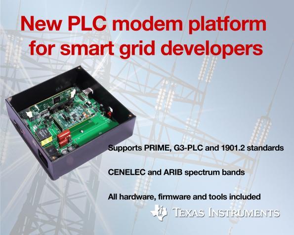 PLC modems support three standards across spectrum bands