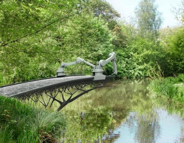 3D-printed steel bridge to be built in mid air