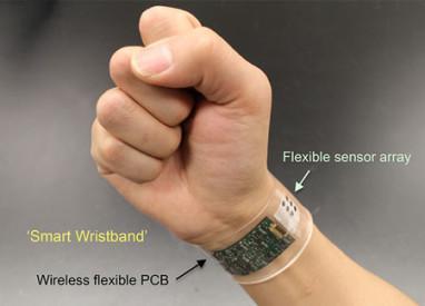 Wearable sensor analyzes sweat to monitor health