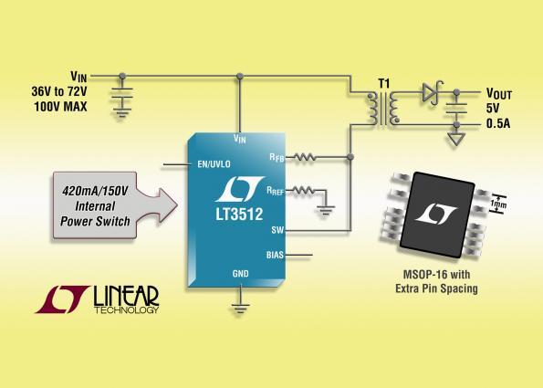HV isolated monolithic flyback regulator eliminates optocoupler