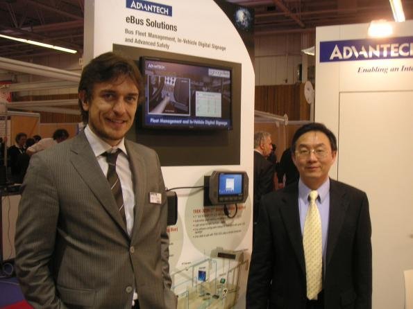 Howard Lin Europe Managing Director d'Advantech et Fabrizio Del Maffeo South Europe Sales Director d'Advantech