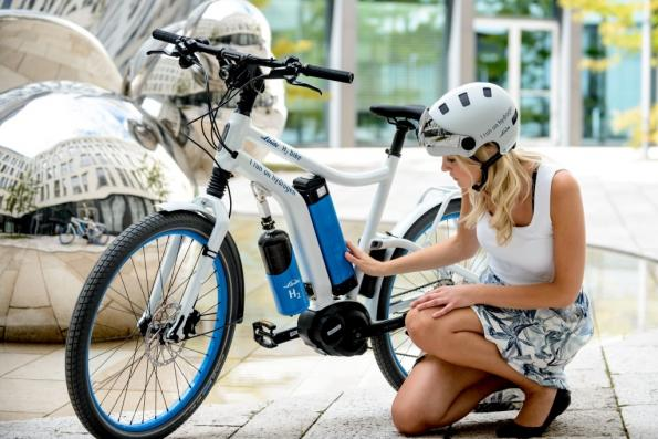 Bike is powered by a fuel cell