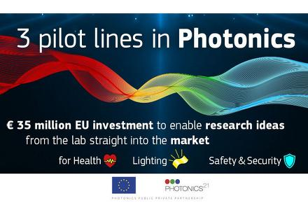 Europe launches three pilot lines for photonics