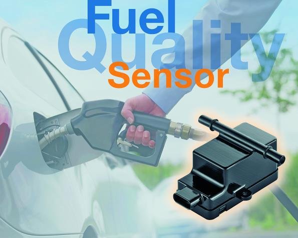 Fuel quality sensor helps adapting cars to different fuel qualities