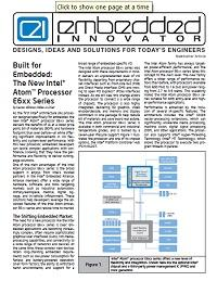 Built for Embedded: The New Intel® Atom™ Processor E6xx Series
