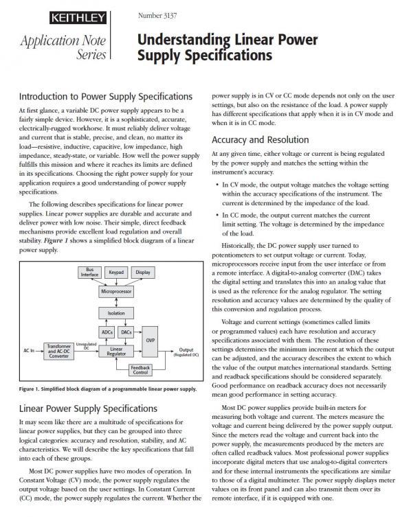 Understanding linear power supply specifications | eeNews Europe