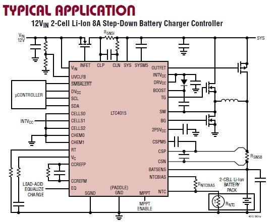 Multichemistry Buck Battery Charger Controller