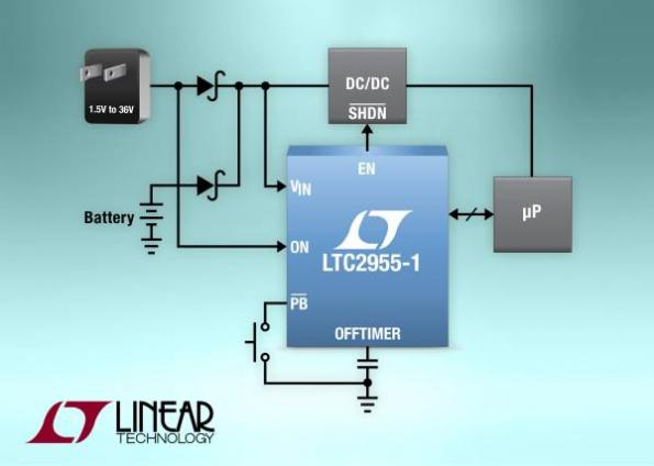 Micropower pushbutton on/off controller delivers automatic turn-on/off capabilities
