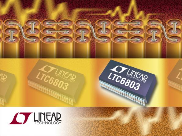 High voltage battery stack monitor enhances HEV/EV battery management systems