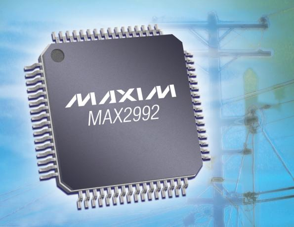 G3-PLC chipset complies with IEEE P1901.2 pre-standard for smart grid communications