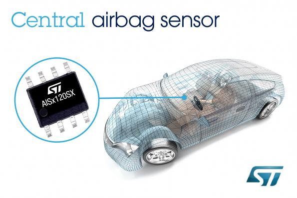 ST rolls central crash sensors for airbag systems