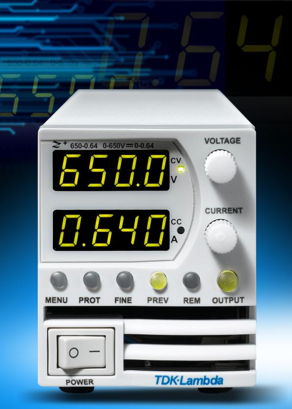 Programmable power supplies deliver up to 650Vdc
