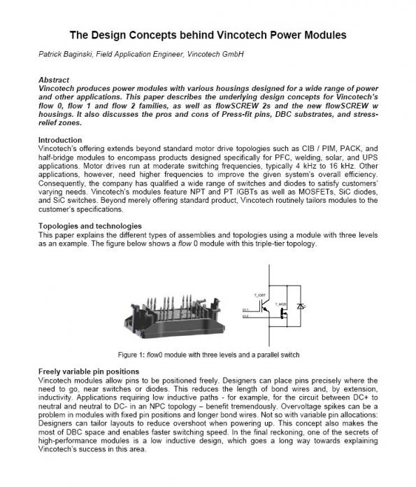 The Design Concepts Behind Vincotech Power Modules