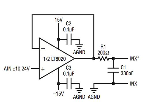 linear technology  micropower op amp drives 8