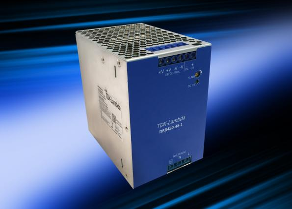 48V 480W DIN rail supply is 84mm wide