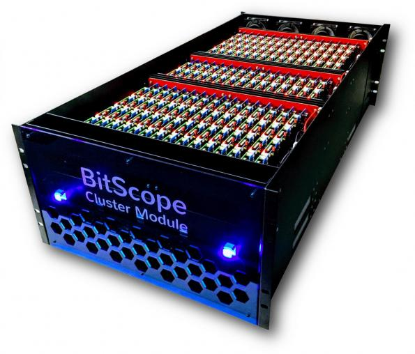 The BitScope Pi Cluster Modules system provides a testbed for high-performance-computing system-software developers. The system comprises five rack-mounted BitScope Pi Cluster Modules consisting of 3,000 cores using Raspberry Pi ARM processor boards, fully integrated with network switching infrastructure.