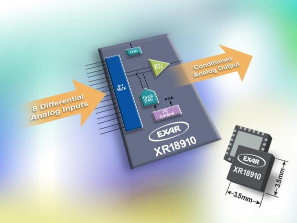 Simplify sensor conditioning with 8:1 AFE interface