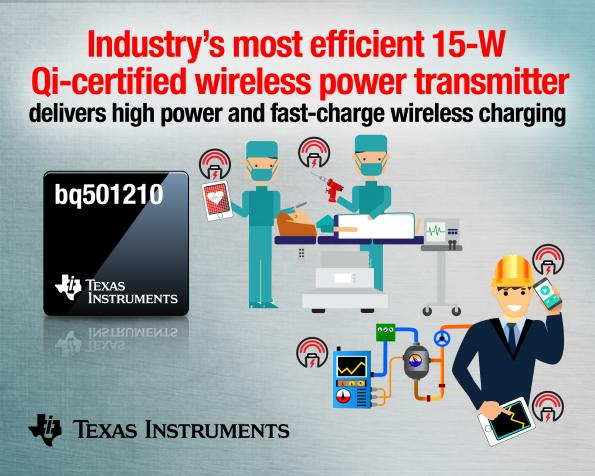First Qi-certified 15W wireless power transmitter for industrial applications