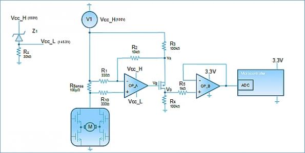 Using low voltage precision op amps for a high voltage