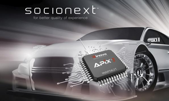 Inova Semiconductors licenses APIX3 to Socionext