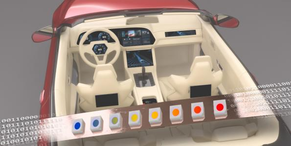 Digital LED lighting control for automotive applications