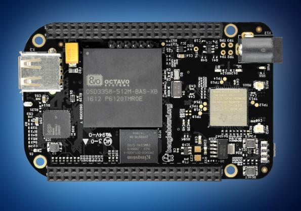 BeagleBone Black Wireless, custom IoT card, from distribution