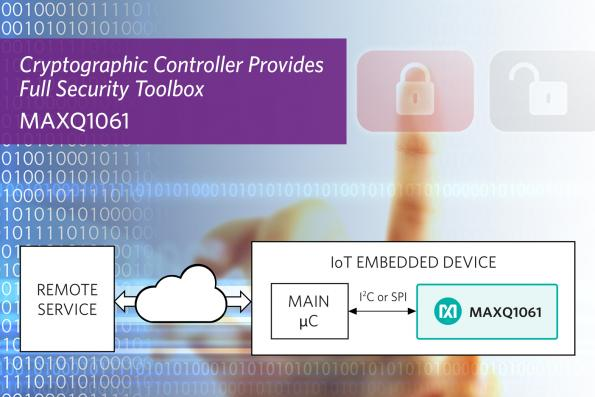 Cryptographic controller secures IIoT devices