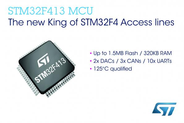 ST adds features to STM32 (Cortex-M4) MCU product groups