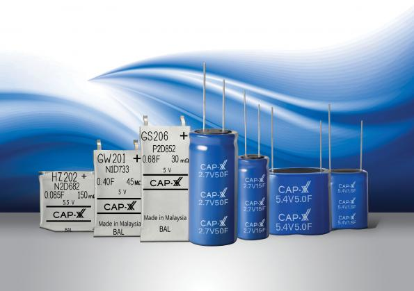 Cylindrical supercapacitors peak at 400F to power IoT devices